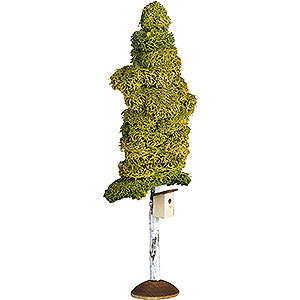 Weihnachtsengel Günter Reichel Dekoration Birke mit Nistkasten - 20cm