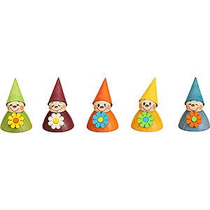 Kleine Figuren & Miniaturen alles Andere Blumen-Wippel, 5er Satz - 4cm