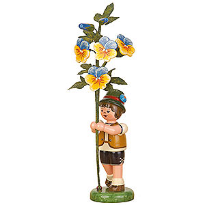 Kleine Figuren & Miniaturen Hubrig Blumenkinder Blumenkind Junge Hornveilchen - 17cm
