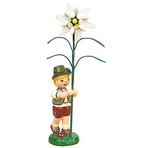 Kleine Figuren & Miniaturen Hubrig Blumenkinder Blumenkind Junge mit Edelweiß - 11cm