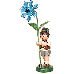 Kleine Figuren & Miniaturen Hubrig Blumenkinder Blumenkind Junge mit Kornblume - 11cm