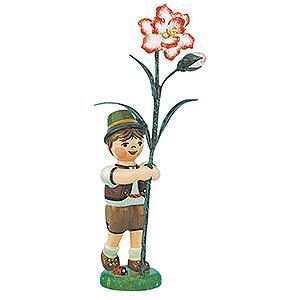 Kleine Figuren & Miniaturen Hubrig Blumenkinder Blumenkind Junge mit Nelke - 11 cm
