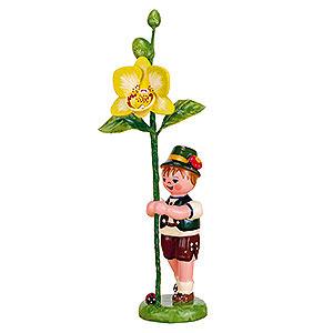 Kleine Figuren & Miniaturen Hubrig Blumenkinder Blumenkind Junge mit Orchidee  - 11cm