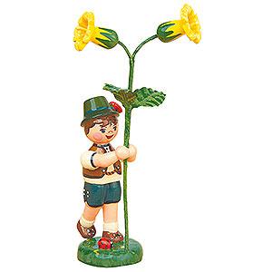 Kleine Figuren & Miniaturen Hubrig Blumenkinder Blumenkind Junge mit Schl�sselblume - 11cm