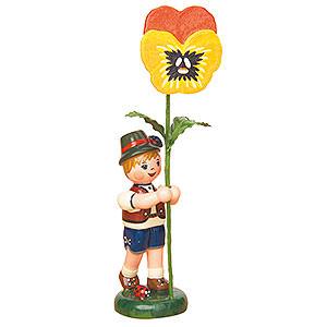 Kleine Figuren & Miniaturen Hubrig Blumenkinder Blumenkind Junge mit Stiefmütterchen - 11cm