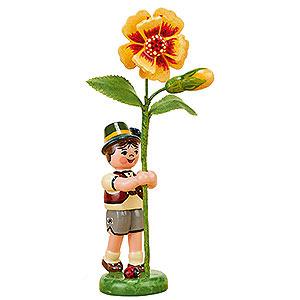 Kleine Figuren & Miniaturen Hubrig Blumenkinder Blumenkind Junge mit Tagetes  - 11cm