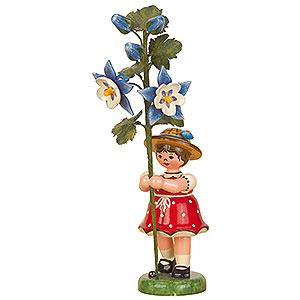 Kleine Figuren & Miniaturen Hubrig Blumenkinder Blumenkind Mädchen Akelei - 17cm