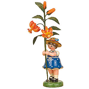 Kleine Figuren & Miniaturen Hubrig Blumenkinder Blumenkind Mädchen Lilie - 17cm