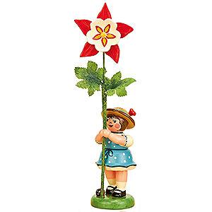Kleine Figuren & Miniaturen Hubrig Blumenkinder Blumenkind Mädchen mit Akelei - 11cm