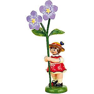 Kleine Figuren & Miniaturen Hubrig Blumenkinder Blumenkind Mädchen mit Flachs - 11cm