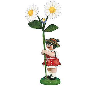 Kleine Figuren & Miniaturen Hubrig Blumenkinder Blumenkind Mädchen mit Gänseblume - 11 cm