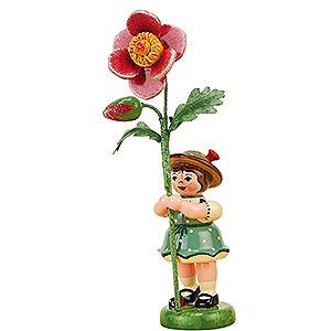 Kleine Figuren & Miniaturen Hubrig Blumenkinder Blumenkind Mädchen mit Heckenrose - 11cm