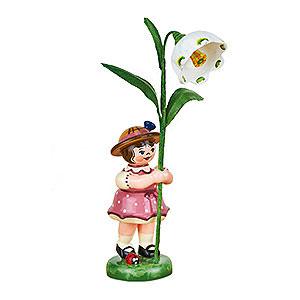 Kleine Figuren & Miniaturen Hubrig Blumenkinder Blumenkind Mädchen mit Märzenbecher - 11cm
