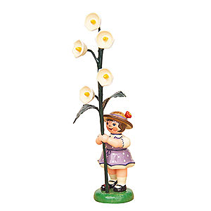 Kleine Figuren & Miniaturen Hubrig Blumenkinder Blumenkind Mädchen mit Maiglöckchen - 11cm