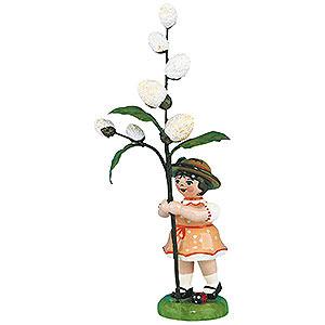 Kleine Figuren & Miniaturen Hubrig Blumenkinder Blumenkind Mädchen mit Maikätzchen 2. Auflage - 11cm