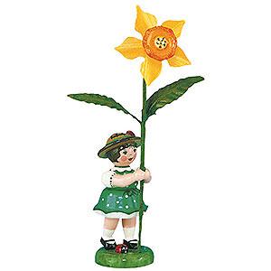 Kleine Figuren & Miniaturen Hubrig Blumenkinder Blumenkind Mädchen mit Narzisse 2. Auflage - 11cm