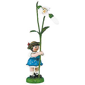 Kleine Figuren & Miniaturen Hubrig Blumenkinder Blumenkind Mädchen mit Schneeglöckchen 2. Auflage - 11cm