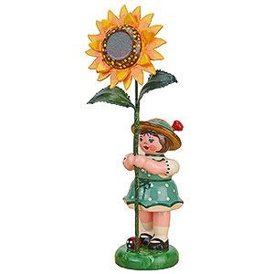 Kleine Figuren & Miniaturen Hubrig Blumenkinder Blumenkind Mädchen mit Sonnenblume - 11 cm