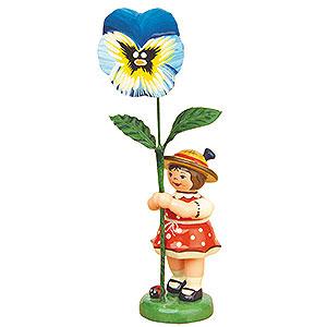 Kleine Figuren & Miniaturen Hubrig Blumenkinder Blumenkind Mädchen mit Stiefmütterchen - 11cm