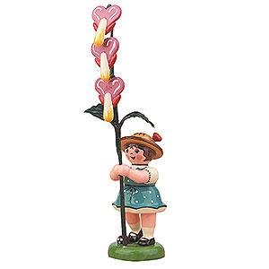 Kleine Figuren & Miniaturen Hubrig Blumenkinder Blumenkind M�dchen mit Tr�nenden Herz - 11cm