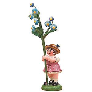Kleine Figuren & Miniaturen Hubrig Blumenkinder Blumenkind Mädchen mit Vergissmeinnicht - 11cm