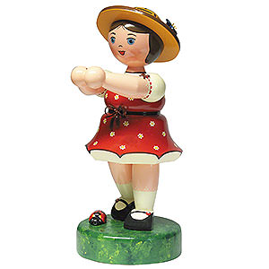 Kleine Figuren & Miniaturen Hubrig Blumenkinder Blumenm�dchen ohne Blume (rot) - 35cm