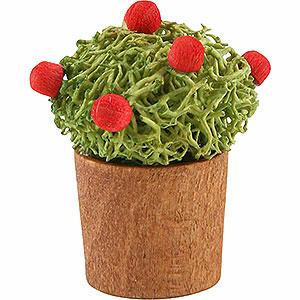 Weihnachtsengel Günter Reichel Dekoration Blumentopf mit Knospen - 3cm