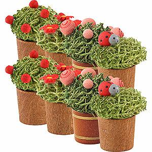 Weihnachtsengel Günter Reichel Dekoration Blumentopf sortiert, 8 Stück - 3cm