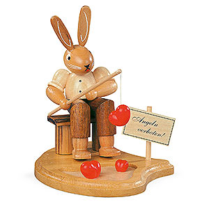 Small Figures & Ornaments Animals Rabbits Bunny Fisherman  - 11 cm / 4 inch