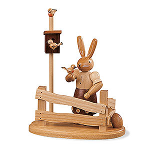 Small Figures & Ornaments Animals Rabbits Bunny Woman - 13 cm / 5 inch