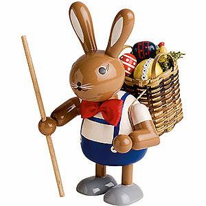 Small Figures & Ornaments Animals Rabbits Bunny with Basket - 11 cm / 4 inch