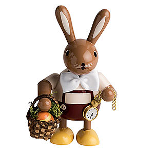 Small Figures & Ornaments Animals Rabbits Bunny with Egg-Basket - 11 cm / 4 inch