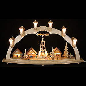 Candle Arches Illuminated inside Candle Arch Christmas fair - 41 x 17 inch - 80 x 43 cm