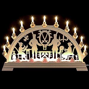 Candle Arches Fret Saw Work Candle Arch - Erzgebirge - 64x40 cm/26x16 inch