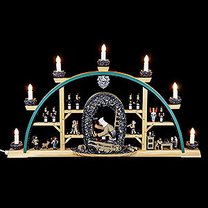 Candle Arches All Candle Arches Candle Arch Miner kneeling - 70x40cm / 27.5x15.7inch
