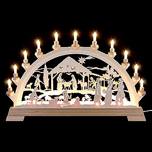 Candle Arches Fret Saw Work Candle Arch - Nativity - 65x40cm/26x16 inch