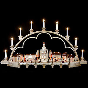 Candle Arches Illuminated inside Candle Arch - Old Dresden - 103 cm / 41 inch - 120 V Electr. (US-Standard)