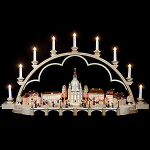 Candle Arches Illuminated inside Candle Arch - Old Dresden- 230 Volt - 103 cm / 41 inch