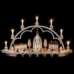 Candle Arches Illuminated inside Candle Arch - Old Dresden - 80 cm / 31 inch - 120 V Electr. (US-Standard)