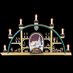 Candle Arches All Candle Arches Candle Arch - Scenes from the German Erzgebirge - 72 x 41cm / 28 x 16 inch