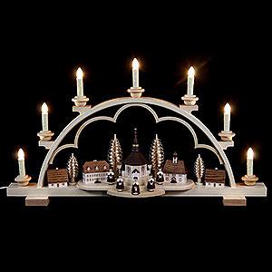Candle Arches All Candle Arches Candle Arch - Village Seiffen - 64 cm / 25 inch - 120 V Electr. (US-Standard)