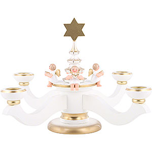 World of Light Candle Holder Angels Candle Holder - Advent White - 20,0 cm / 8 inch
