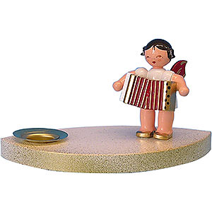 World of Light Candle Holder Angels Candle Holder - Angel with Accordion - 7 cm / 2.8 inch