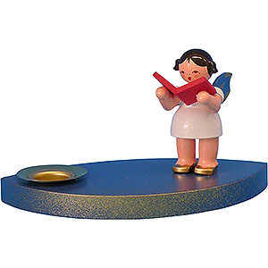 World of Light Candle Holder Angels Candle Holder - Angel with Book - 7 cm / 2.8 inch