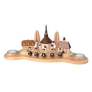 World of Light Candle Holder Misc. Candle Holders Candle Holder - Seiffen Village - 16 cm / 6 inch