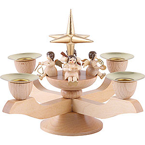 World of Light Candle Holder Angels Candle holder with Angels - gold - 5 inch - 12 cm