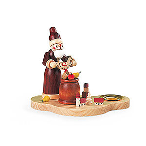 World of Light Candle Holder Santa Claus Candlestick - The Giving - 9 cm / 4 inch