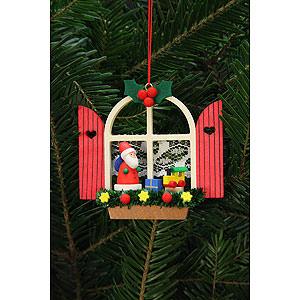 Christbaumschmuck Weihnachtsmann Christbaumschmuck Adventsfenster mit Niko - 7,6x7,0cm