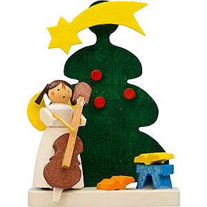 Christbaumschmuck Weihnachten Christbaumschmuck Baum-Engel mit Cello - 6 cm