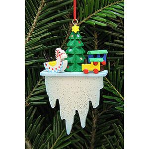 Christbaumschmuck Spielzeug-Design Christbaumschmuck Baum mit Spielzeug auf Eiszapfen - 4,5x7,8cm